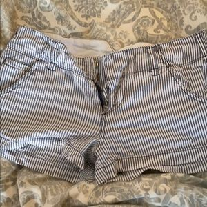 Roxy blue and white stripe shorts